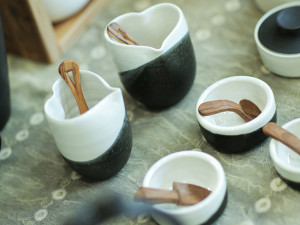 Black and White Bowls, Cups and Jars