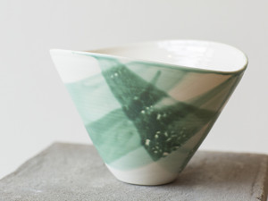 Green Oval Bowl