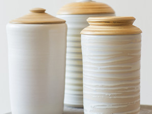 Canisters with Wooden Lids