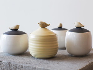 Jars with Bird Lids