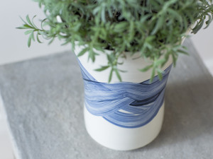 Tall Vase – Blue and White