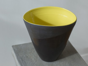 Black and Yellow Vase