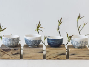 Small Bowls with Hand-Painted Designs