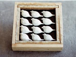 Frame with Clay Birds