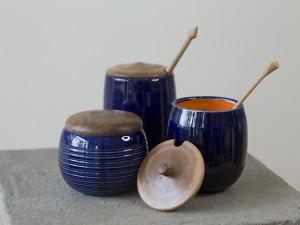 Blue Honey Jars