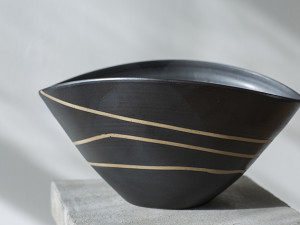 Wide Black Bowl