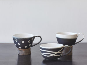 Playful Black and White Mugs